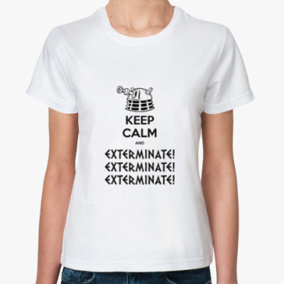 Классическая футболка Keep Calm Dalek