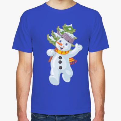Футболка Веселый Снеговик