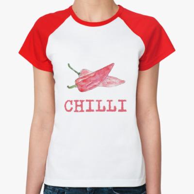 Женская футболка реглан чили
