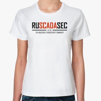 Классическая футболка Женская футболка RUSCADASEC, v.1