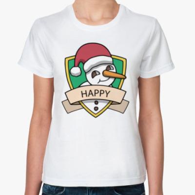 Классическая футболка Снеговик