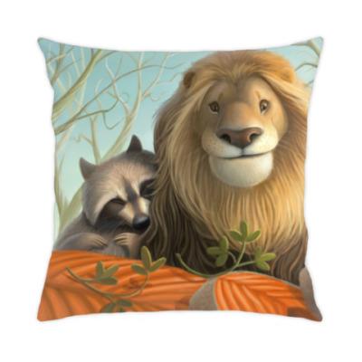 Подушка Лев и Енот