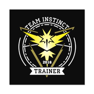 Наклейка (стикер) Покемоны. Team Instinct