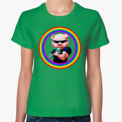 Женская футболка Iron Pig