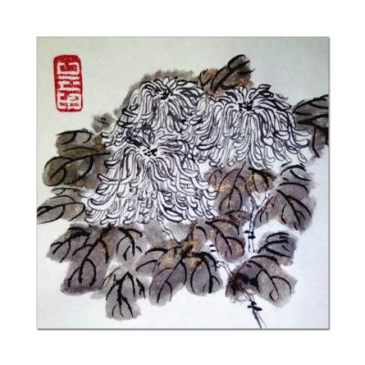 Наклейка (стикер) Хризантемы