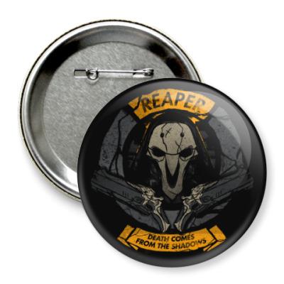 Значок 75мм Overwatch Reaper Gabriel Reyes