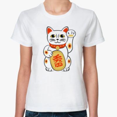 Классическая футболка Lucky Cat