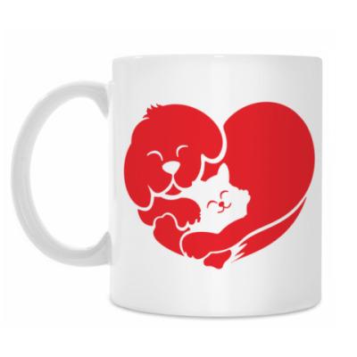 Кружка Cat Dog Love