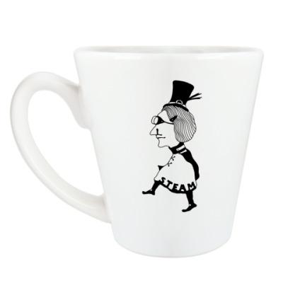 Чашка Латте 'Стимпанк леди'
