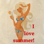 I love summer (Я люблю лето)