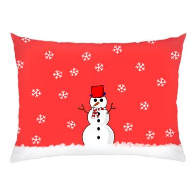 Подушка Снеговик