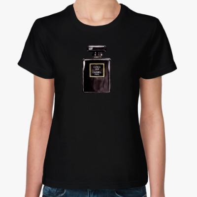 Женская футболка Coco Noir Chanel Perfume