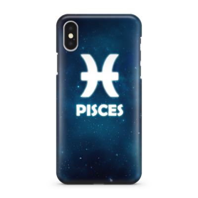 Чехол для iPhone X Знак зодиака. Рыбы