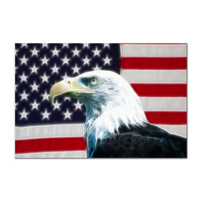 Наклейка (стикер)  USA