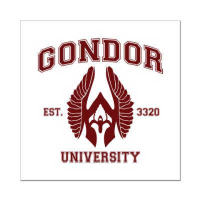 Наклейка (стикер) Gondor University
