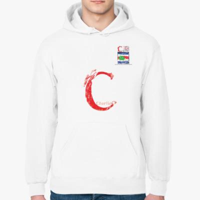 Толстовка худи Сигнальный флаг «C» (Charlie / Чарли)