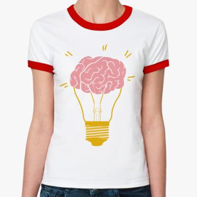 Женская футболка Ringer-T   Лампочка