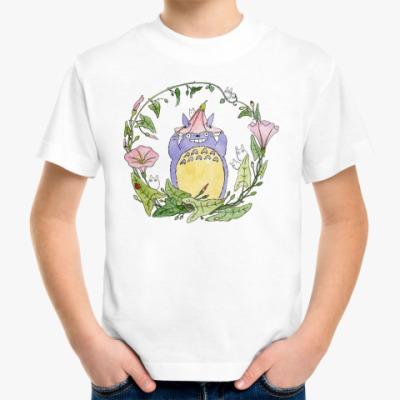 Детская футболка Тоторо и вьюнок