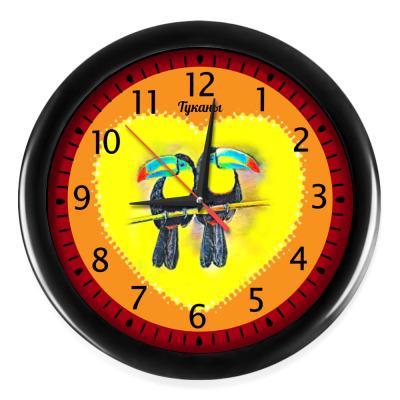 Настенные часы  Туканы
