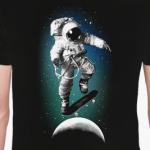 Astronaut on skateboard