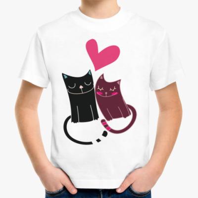 Детская футболка Милые котики