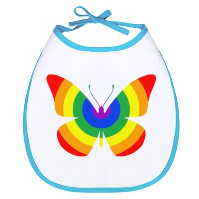 Слюнявчик Rainbow Buttefly
