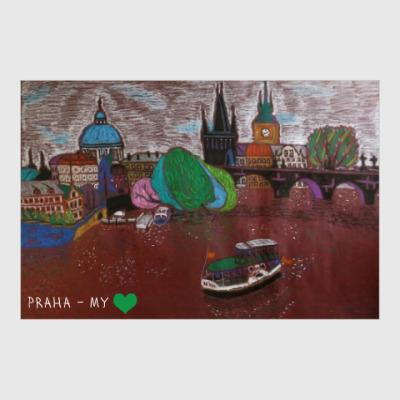 Постер Прага/ Praha my love