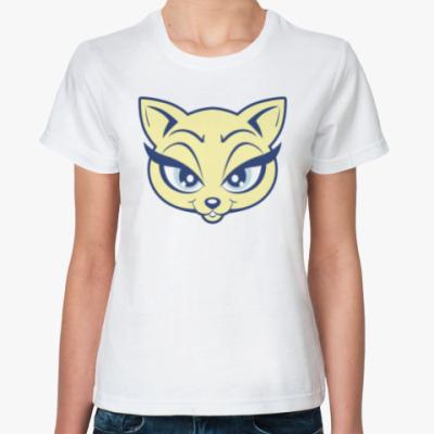 Классическая футболка Beauty Kitty