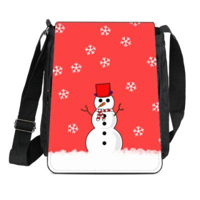 Сумка-планшет Снеговик