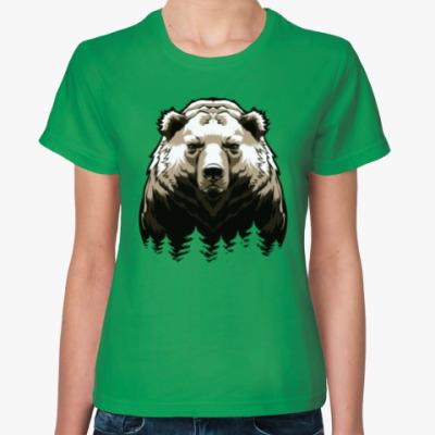 Женская футболка Суровый Медведь