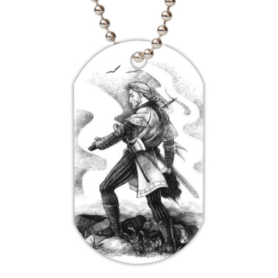 Жетон dog-tag Средневековый воин