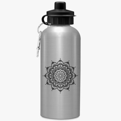 Спортивная бутылка/фляжка Mehendi mandala
