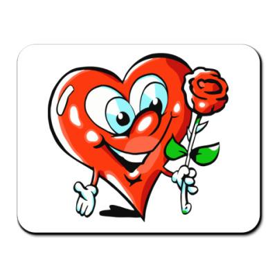 Коврик для мыши влюбленное сердце