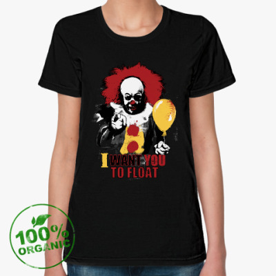 Женская футболка из органик-хлопка Clown It by Stephen King