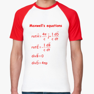 Футболка реглан Уравнения Максвелла