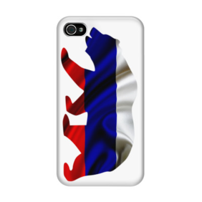 Чехол для iPhone 4/4s Русский медведь
