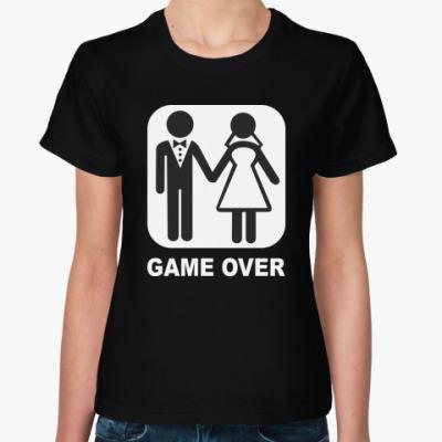 Женская футболка Свадьба GAME OVER