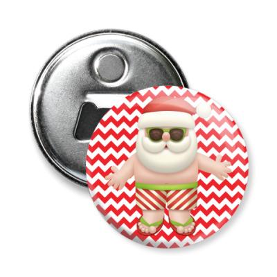 Магнит-открывашка Кульный Санта