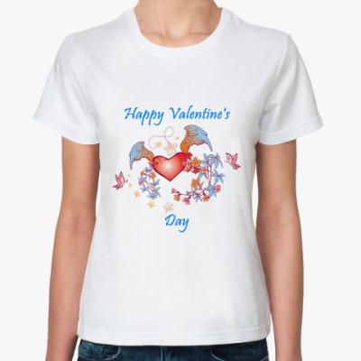 Классическая футболка С Днем Св.Валентина