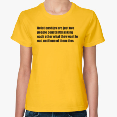 Женская футболка Relationships