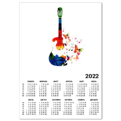 Календарь Гитара