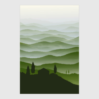 Постер Италия (путешествия)