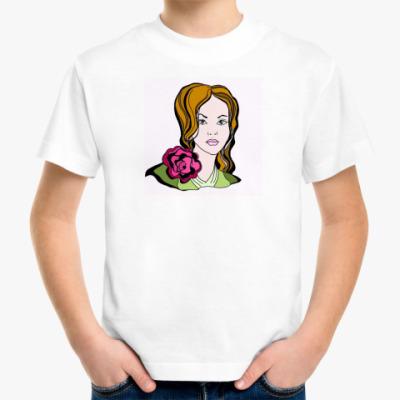 Детская футболка Позитивная девушка