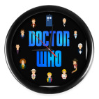 Настенные часы (без цифр) Одиннадцать Докторов