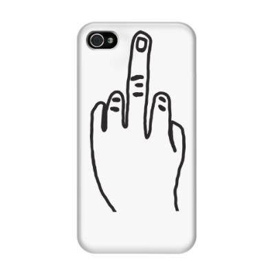 Чехол для iPhone 4/4s Чехол для iPhone 4/4s f**k you (3D)