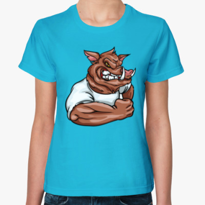 Женская футболка Кабан