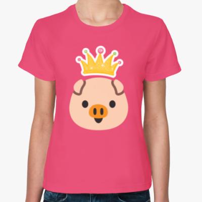 Женская футболка PIGGY QUEEN