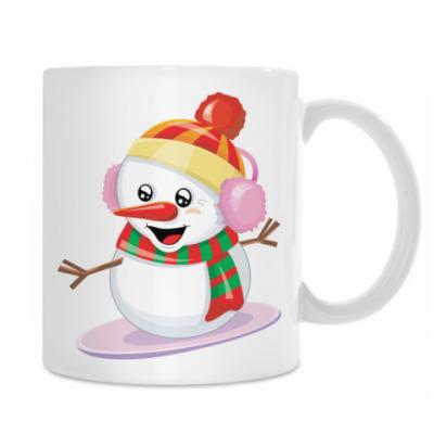 Снеговик Сноубордист