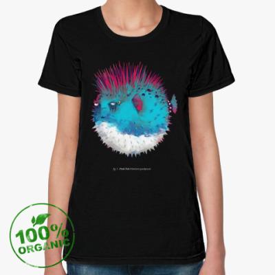 Женская футболка из органик-хлопка Брутальная рыба панк Punk fish