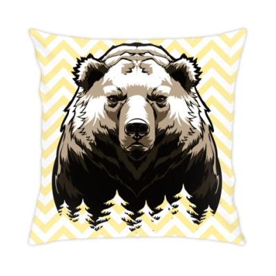 Подушка Суровый Медведь